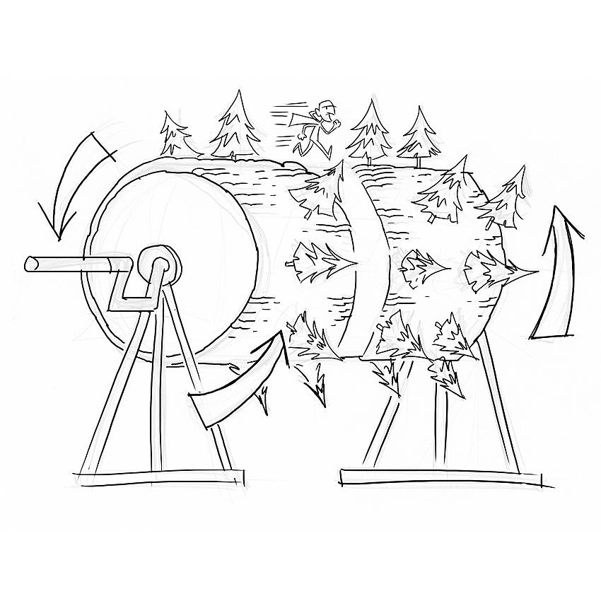 Scene 2 (Pilot) – Rotating Forest