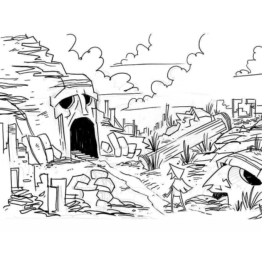 Scene #3 – Exterior Cave