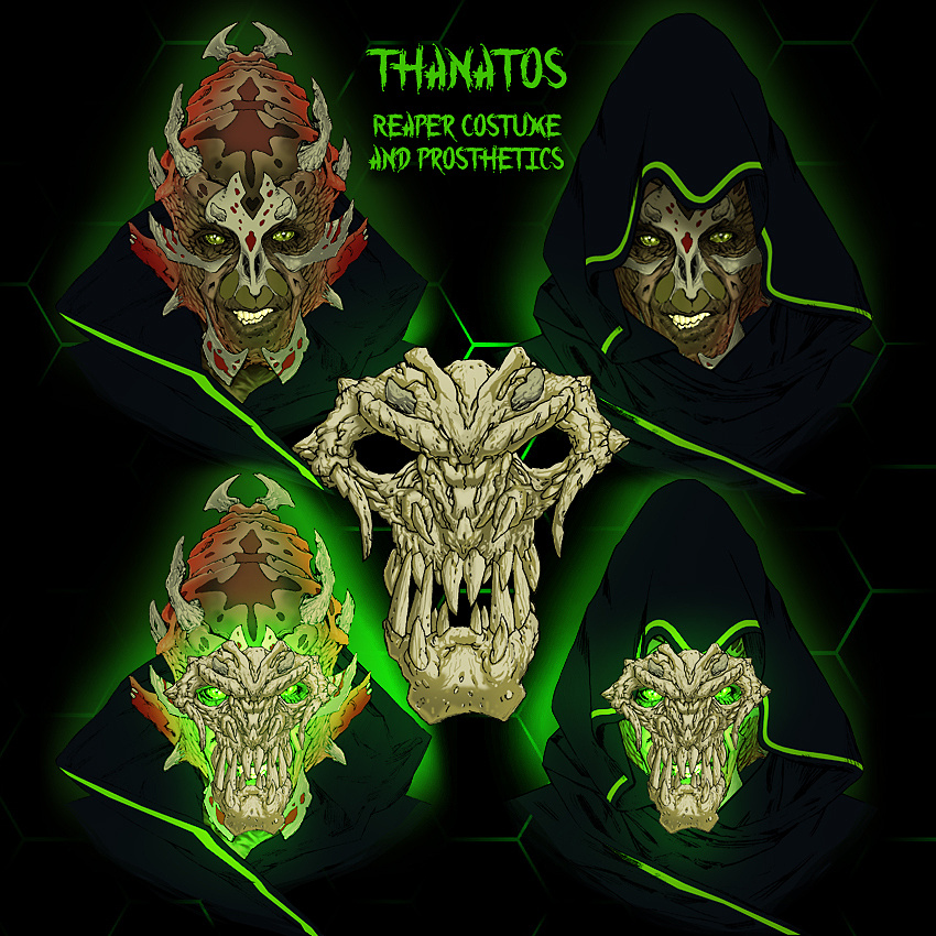 Thanatos - Reaper Make-Up FX & Costume